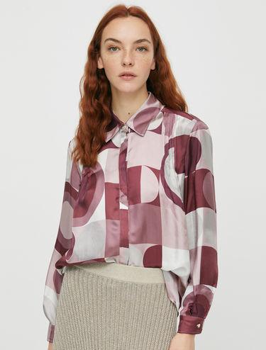 Printed twill shirt