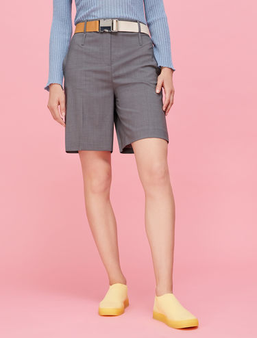 Light wool Bermuda shorts