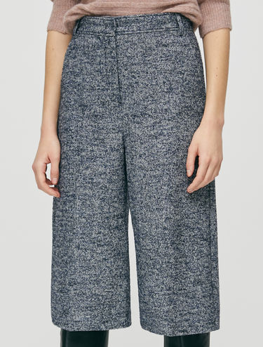 Bouclé tweed culotte trousers