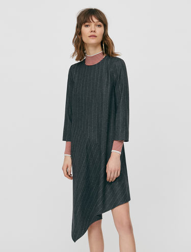 Asymmetric flannel dress