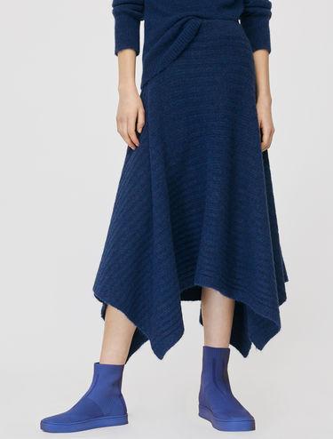 Knit foulard skirt