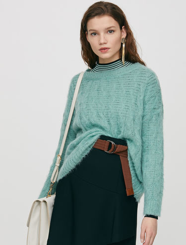 Braided mohair jumper