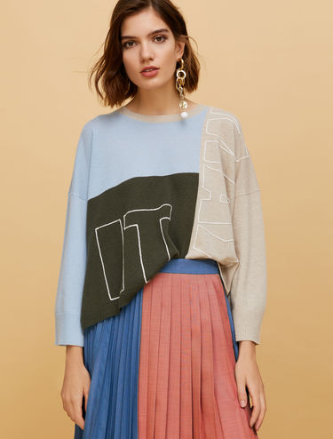 MAX IT UP colour-block jumper
