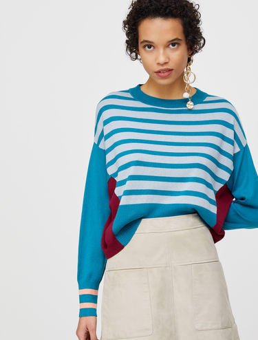 Relaxed jumper in cotton silk