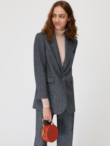 Micro-patterned cloth blazer