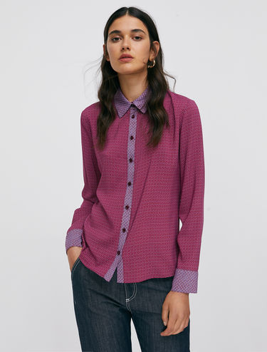 Slim voile shirt
