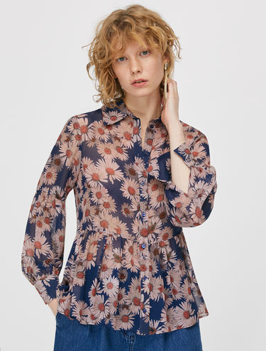 Shirt in floral georgette