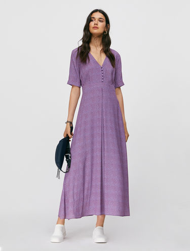 Long crepe dress