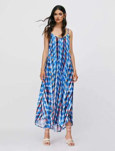 Twill maxi dress