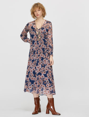 Dress in floral georgette
