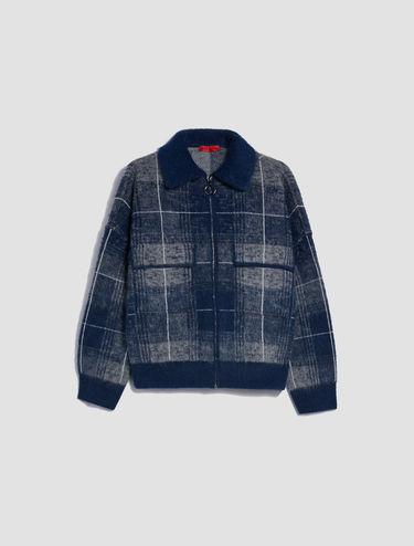 Jacquard knit bomber jacket