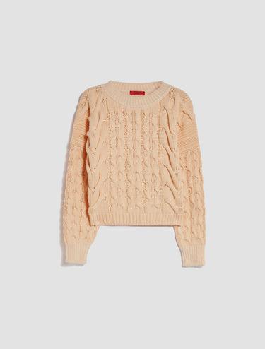 Pullover mit Maxi-Zopfmuster