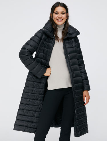 Padded coat with belt