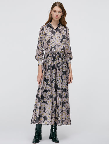 Long dress di jersey lamé