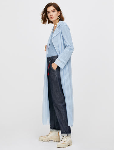 Tulle duster coat