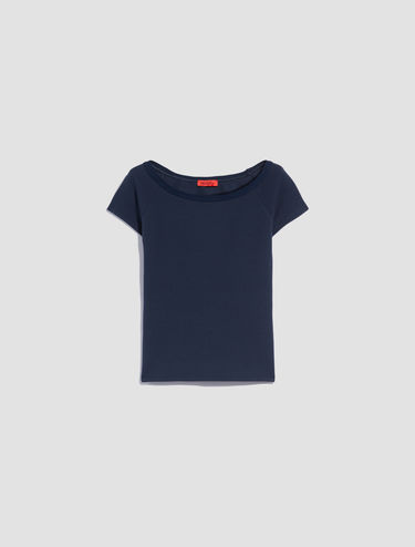 Boat-neck T-shirt