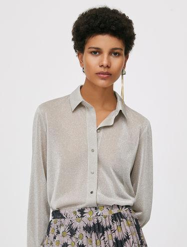 Jersey lamé shirt