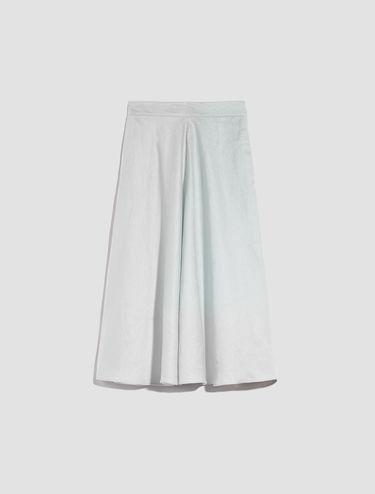Pure linen midi skirt