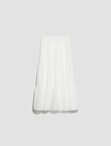 Cotton voile and silk skirt