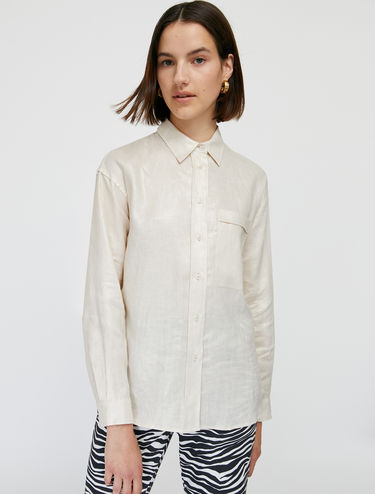 Hemd aus laminiertem Leinen