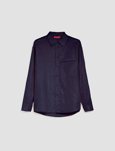 Metallic linen shirt