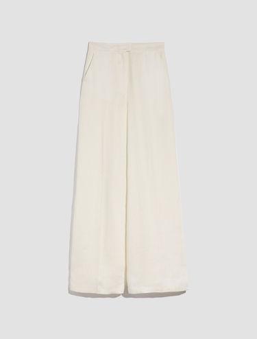 Pantalón de lino puro y ajuste ancho
