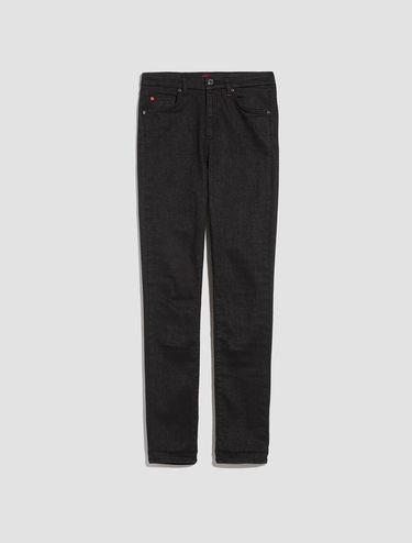 Skinny-fit jeans with microlamé