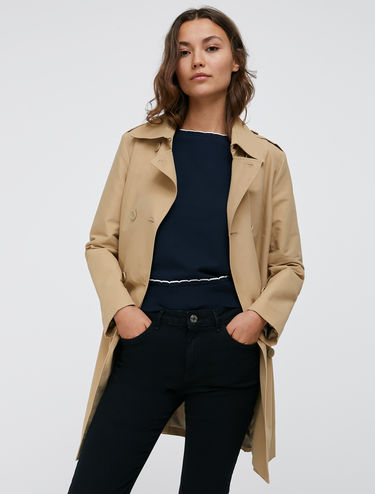 Techno-cotton trench coat