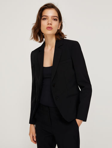 Two-button bi-stretch blazer