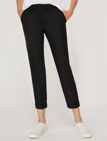 Slim trousers with turn-ups