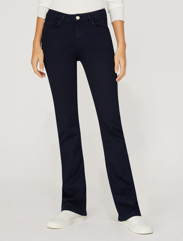 Super-stretch boot-cut jeans