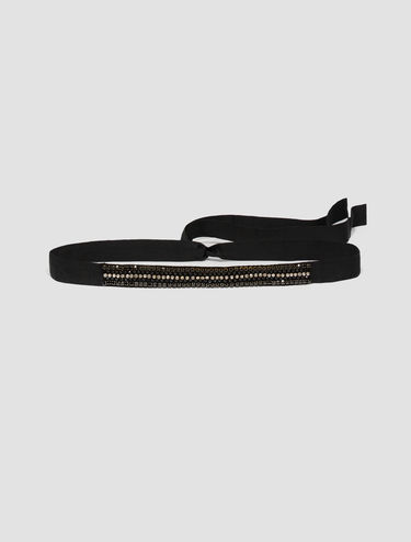 Grosgrain jewelled belt