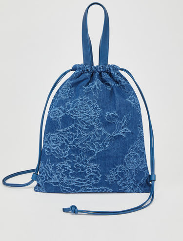 Roo shopper backpack in denim