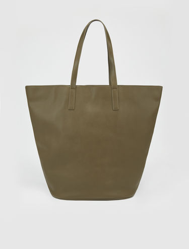 Trapezoid maxi shopper bag