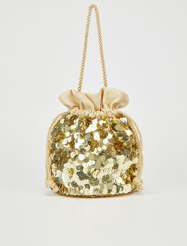 Party bag di paillettes gold