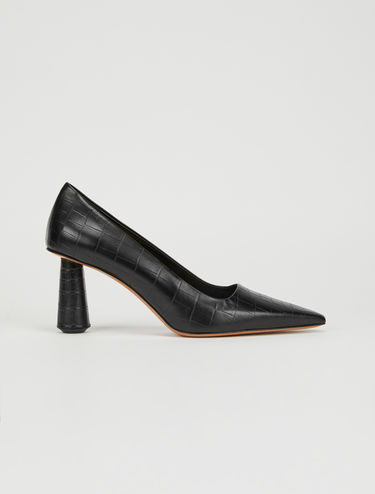 Court shoes with column heel