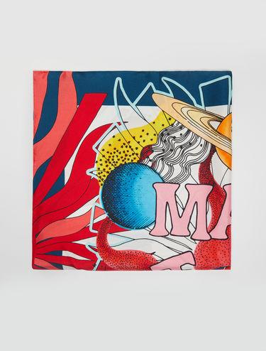 [ピンツァ] プリント シルク スカーフ