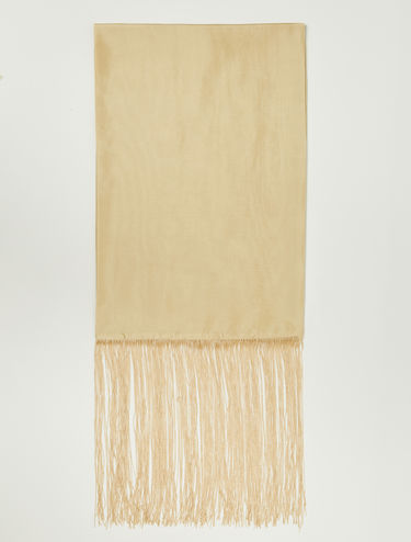 Silk scarf with maxi fringes
