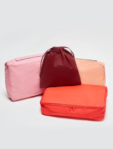 Conjunto de cajas organizadoras de viaje y bolsa con cordón