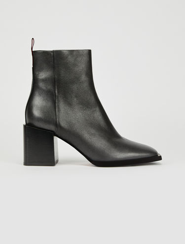 Ankle boots in metallic leather