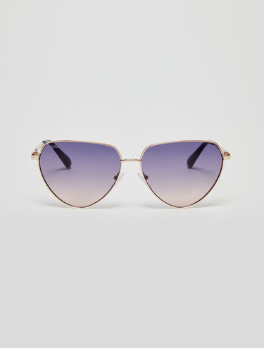 Metallic triangular sunglasses