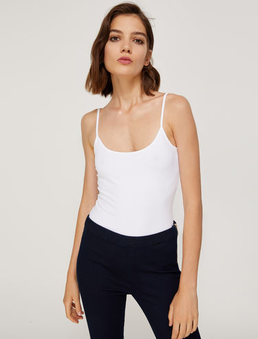 Stretch jersey vest top
