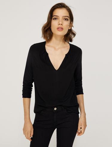 Jersey and sablé T-shirt