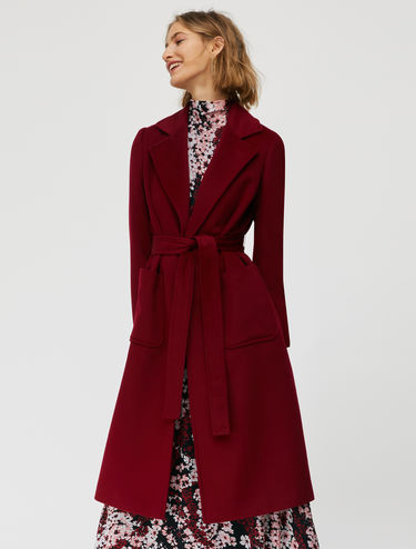 Runaway wrap coat in wool