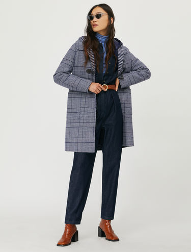 Double wool duffle coat