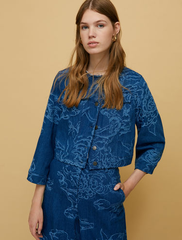 Denim jacquard jacket