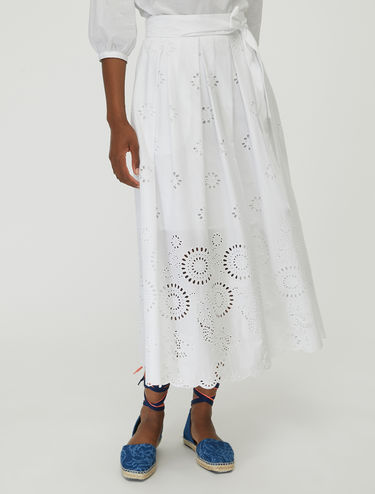 St. Gallen embroidered cotton skirt