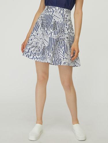 A-line gabardine skirt