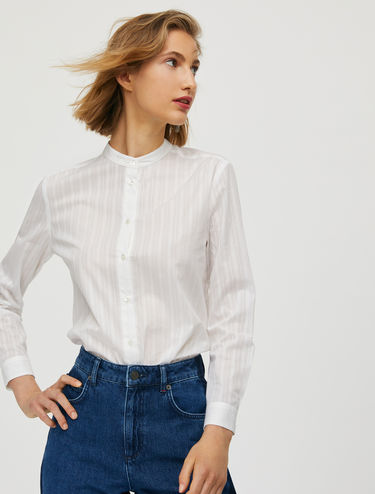 Openwork cotton shirt