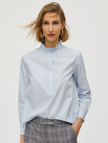 Pinstriped lamé shirt